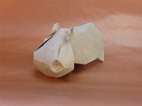 origami hippo hippo by jos 233 herrera flickr photo