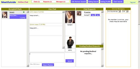 free mobile chat site snapshot