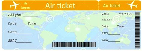 plane ticket template airplane ticket printable template template update234