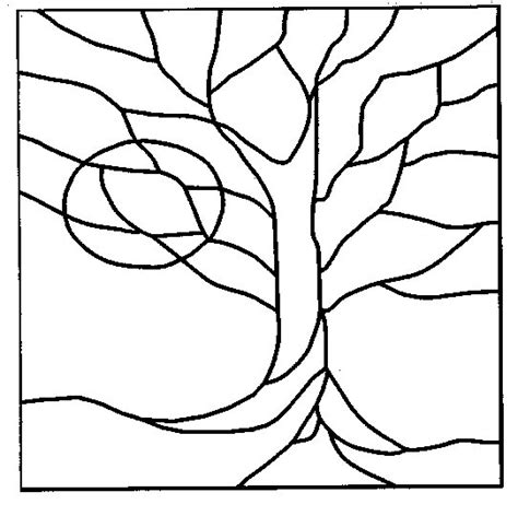 pattern design tree 45 simple stained glass patterns guide patterns