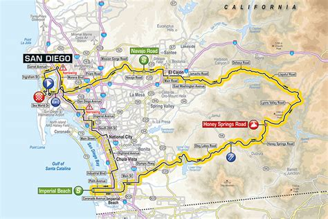 tour of california map tour of california kicks in san diego cityfiles