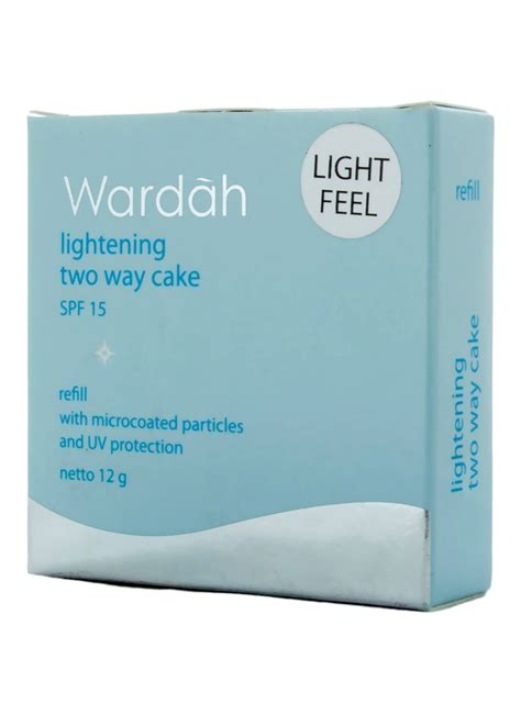 Bedak Wardah Golden Beige wardah lightening two way cake refill 02 golden beige pcs