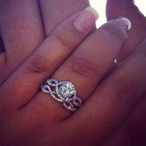17 Best ideas about Infinity Wedding Bands on Pinterest
