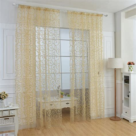 Solid Window Valances Solid Sweet Floral Tulle Voile Door Window Curtains Drape