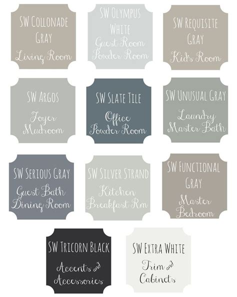 1000 images about whole house color scheme on paint colors revere pewter and put