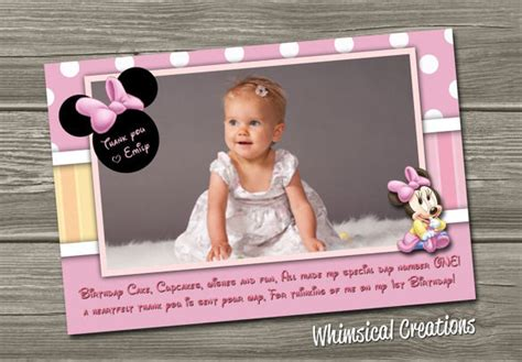 minnie mouse thank you card template 19 mickey mouse thank you cards psd eps free