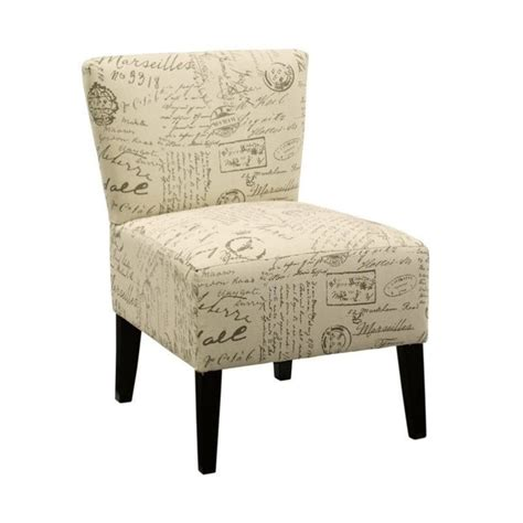 french script armchair ashley ravity fabric accent chair in french script taupe