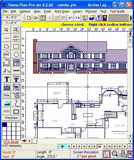 House Plan Drawing Software | home plan pro home drawing software free download software
