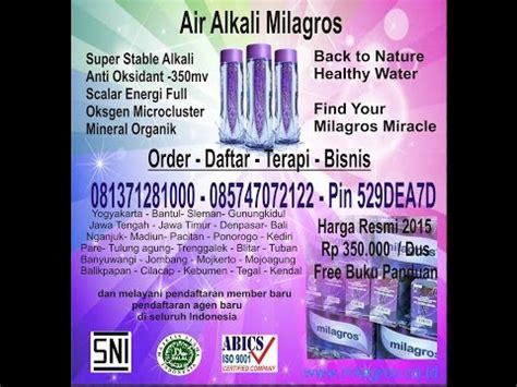Milagros Miracle Inside Air Terapi Kesehatan terjual air alkali milagros miracle water kaskus