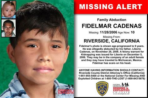 Attorney Riverside Ca 1 by Fidelmar Cadenas Age Now 10 Missing 11 28 2006