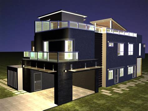 modern home plan design modern house plans 3d