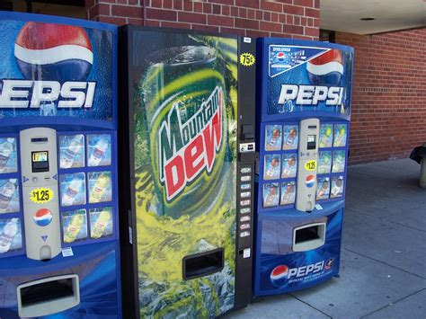 mountain dew vending machine mountain dew and pepsi vending machines a photo on