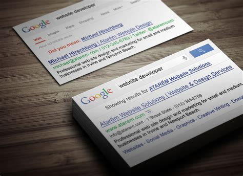 google search business card magichat design