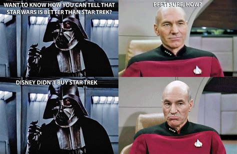 Star Wars Star Trek Meme - meme star wars vs star trek by silverbuller on deviantart