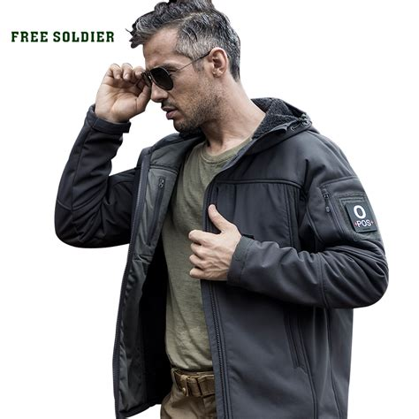 Free Soldier Jaket Water Resistant Windcoat S M free soldier outdoor cing hiking tactical soft shell coat wind whisper warm water resistant