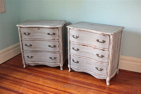Small Dressers by Pair Small Dresser Nightstand Shabby Chic Grey