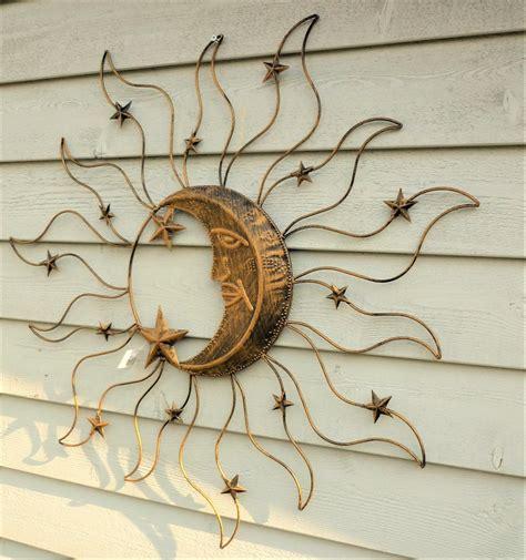 gartendeko sonne metall sonne wanddekoration wandbild garten deko metall