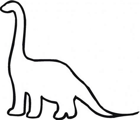 dinosaur cut outs coloring page free dinosaur templates found this outline of a dinosaur