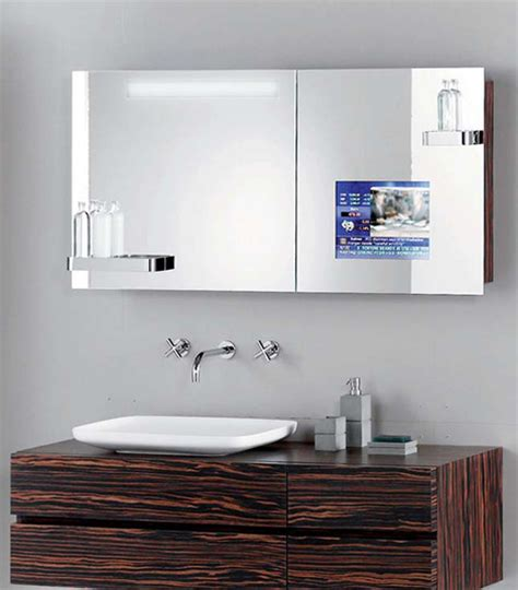 tv in a mirror bathroom hoesch singlebath bathroom suite mirror tv cabinet man