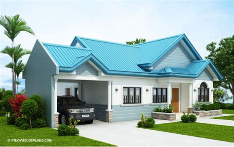 single story bungalow custom home designs with three