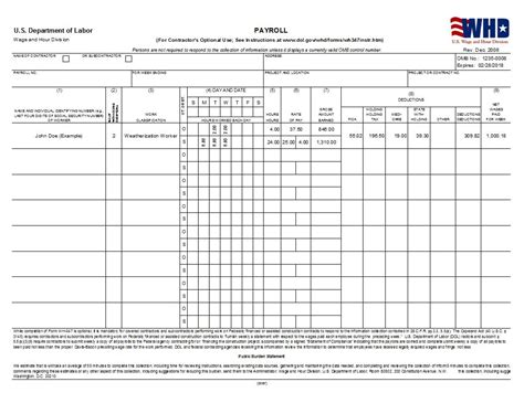 payroll forms templates wh347 certified payroll wh348 statement of compliance cms