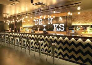 Chalkboard Kitchen Backsplash commercial design bar ideas stool seating restaurant