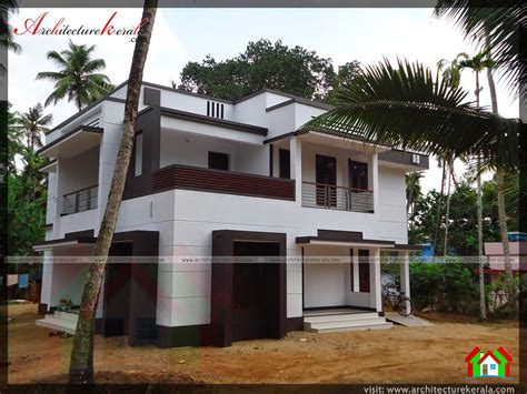 contemporary style house photo of an contemporary style house architecture kerala