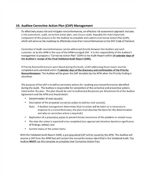 54 Action Plan Exles Pdf Word Corrective Plan Template