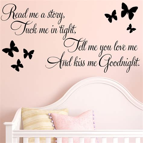 Jumbo Wall Stickers read me a story baby nursery childrens wall sticker decals