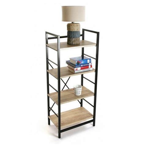 etagere 4 niveaux etagere metal noir bois 4 niveaux versa 20880011