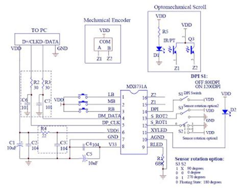 optical mouse integrated circuit development of computer mouse circuit controlled by eog circuit the circuit diagram of computer
