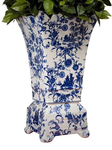 Planter Vase by Blue White Porcelain Planter Vase Home Decor