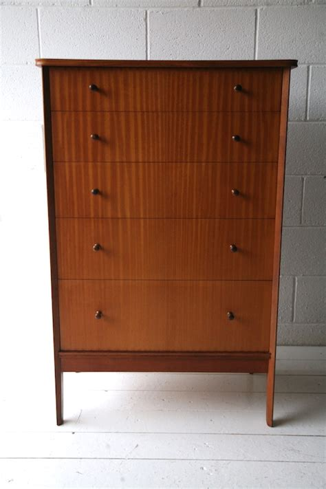 1960s chest of drawers by vanson and chrome