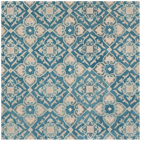 7x7 Area Rugs Safavieh Wyndham Collection Blue And Grey Square Area Rug 7x7 Tufted Wool Save 33
