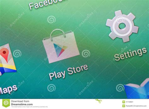 Play Store Photo Play Store Application Editorial Photo Image