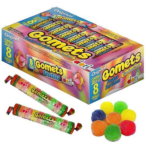 Gomets Frutas Surtidas Balas de Gomas (Assorted Fruit Flavored Jelly Rolls) Package Containing