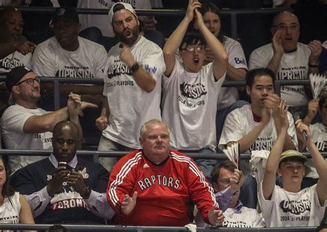 toronto star sports section raptors rob ford drake other celebs at nba playoff