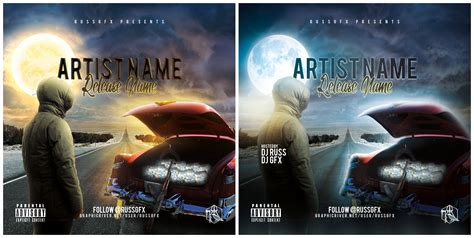 the road psd cd cover template free download by russgfx