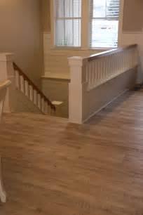luxury vinyl plank wood flooring hallway stairs