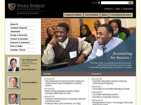 Forest Mba Average Gmat by Forest Babcock Graduate School Of