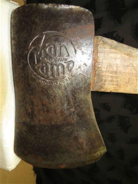 vintage van camp single bit axe nice fawns foot handle