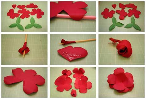 paper flower cutting tutorial diy easy flower making step by step tutorial k4 craft