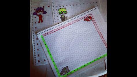 margenes para cuadernos m 225 rgenes kawaii para tus cuadernos ladybug r 225 pido y