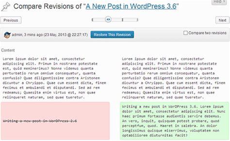 wordpress revisions tutorial wordpress 3 6为我们带来什么新特色 点金主题网