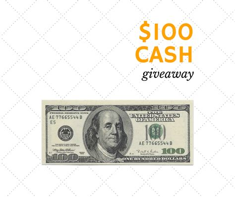 Cash Giveaway - 100 cash giveaway giveaway promote