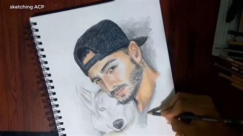 imagenes de maluma 2016 para dibujar dibujando a maluma sketching acp youtube