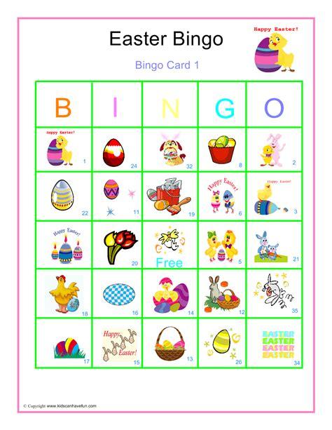 printable children s easter cards 10 easter bingo printable cards