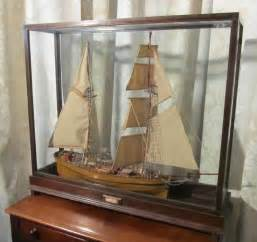 model boat glass cases antiques atlas model of sailing ship in glass case boat