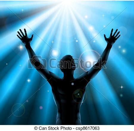 mundo do homem espiritual imagem de stock royalty free vetor espiritual homem bra 231 os levantado cima