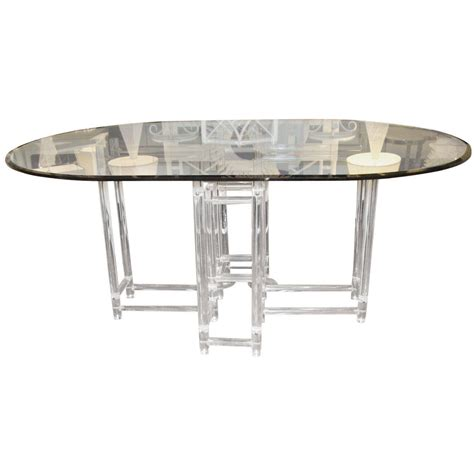 acrylic dining room table vintage acrylic dining table at 1stdibs